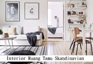 Interior Ruang Tamu Skandinavian