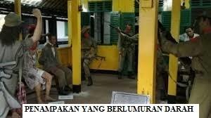 Penampakan Tentara Berlumur Darah
