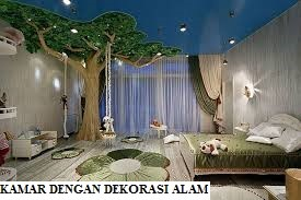 Kamar dengan Dekorasi Alam